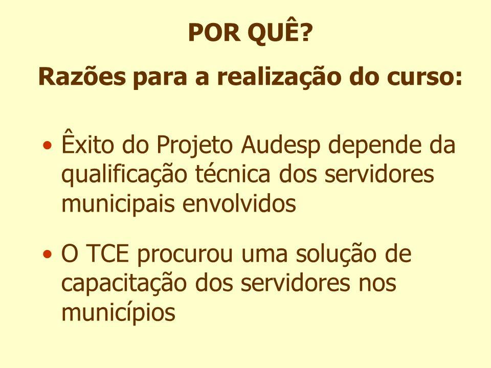 Êxito do Projeto Audesp depende da qualificação técnica dos servidores municipais envolvidos O TCE procurou uma solução de capacitação dos servidores