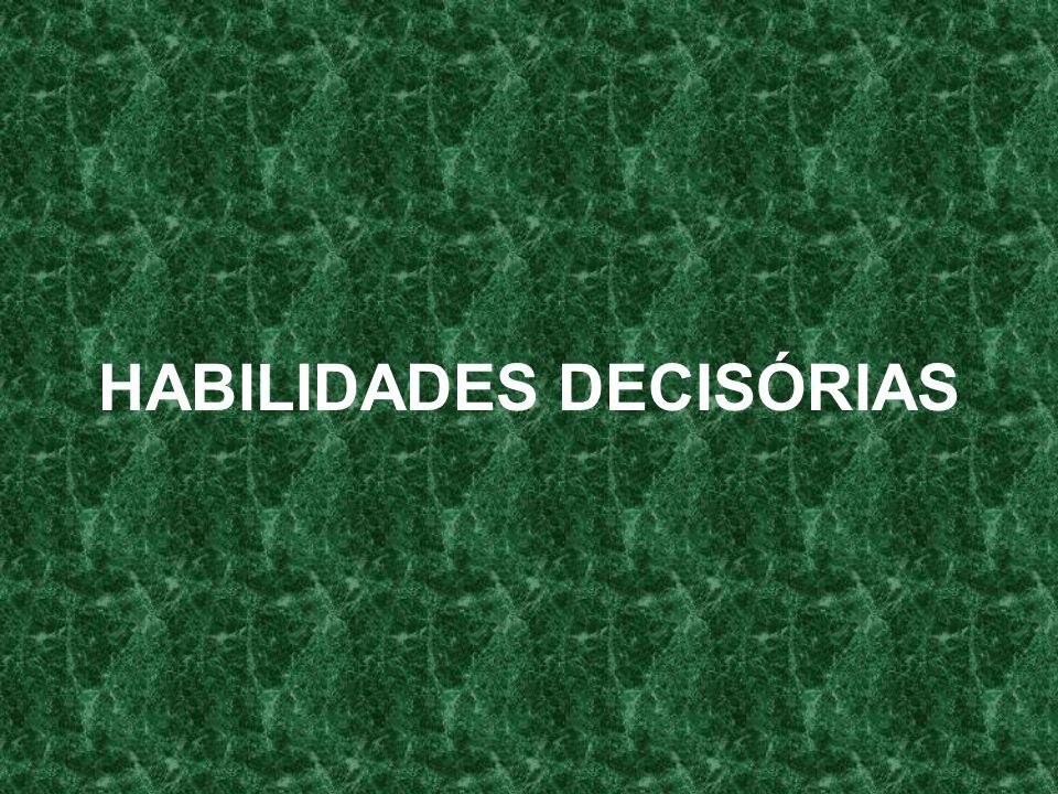 HABILIDADES DECISÓRIAS