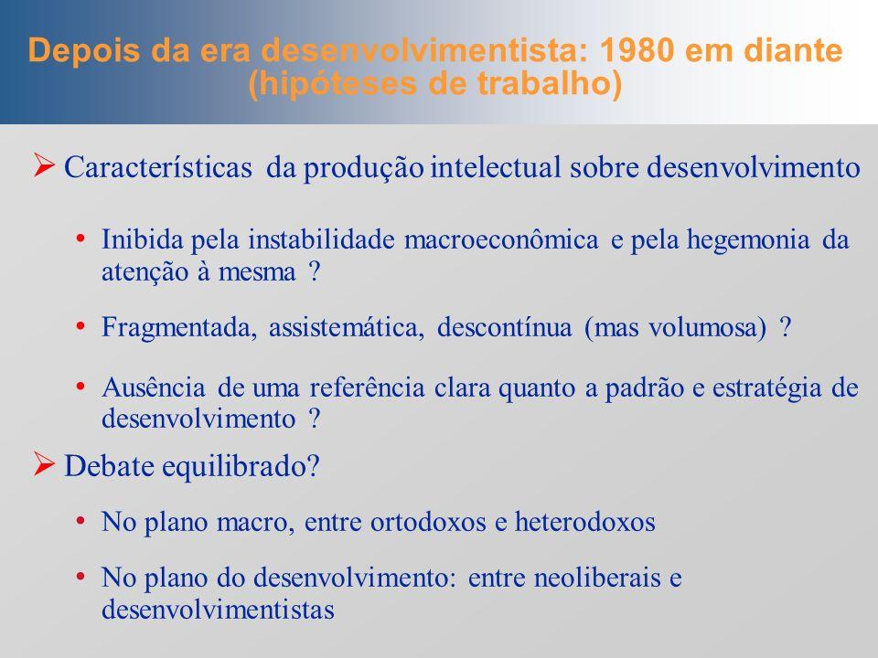 Segunda parte Segunda parte Formulações recentes sobre desenvolvimento econômico: um mapeamento conceitual (1980-2008)