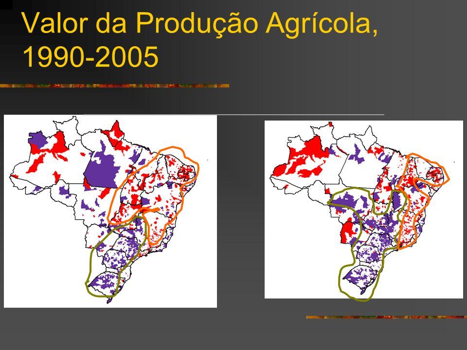 Valor da Produção Agrícola, 1990-2005