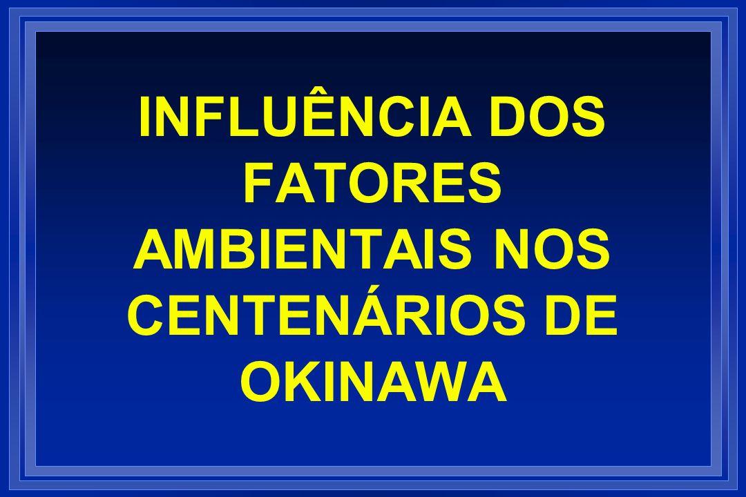 INFLUÊNCIA DOS FATORES AMBIENTAIS NOS CENTENÁRIOS DE OKINAWA