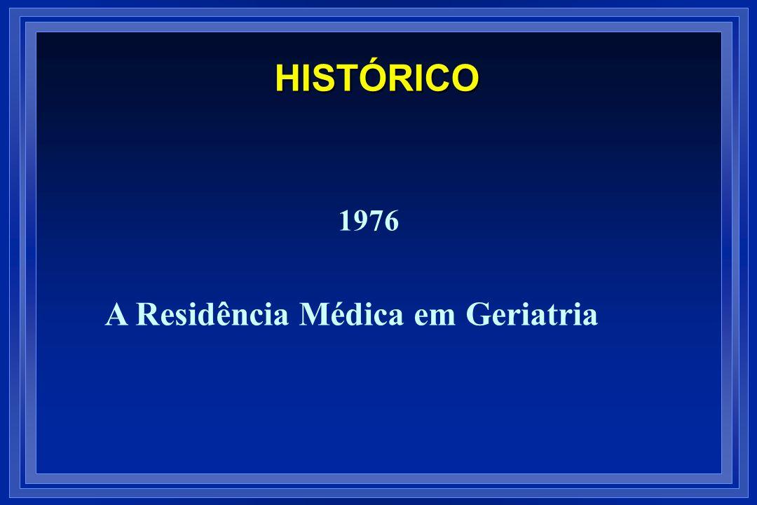 1976 A Residência Médica em Geriatria HISTÓRICO