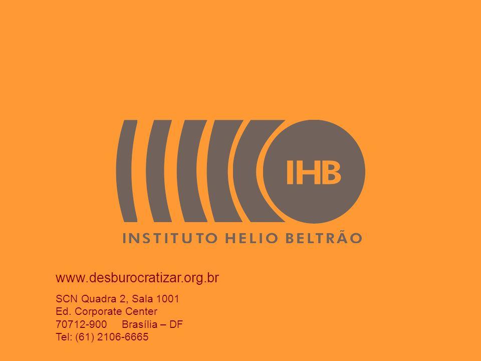 www.desburocratizar.org.br SCN Quadra 2, Sala 1001 Ed. Corporate Center 70712-900 Brasília – DF Tel: (61) 2106-6665