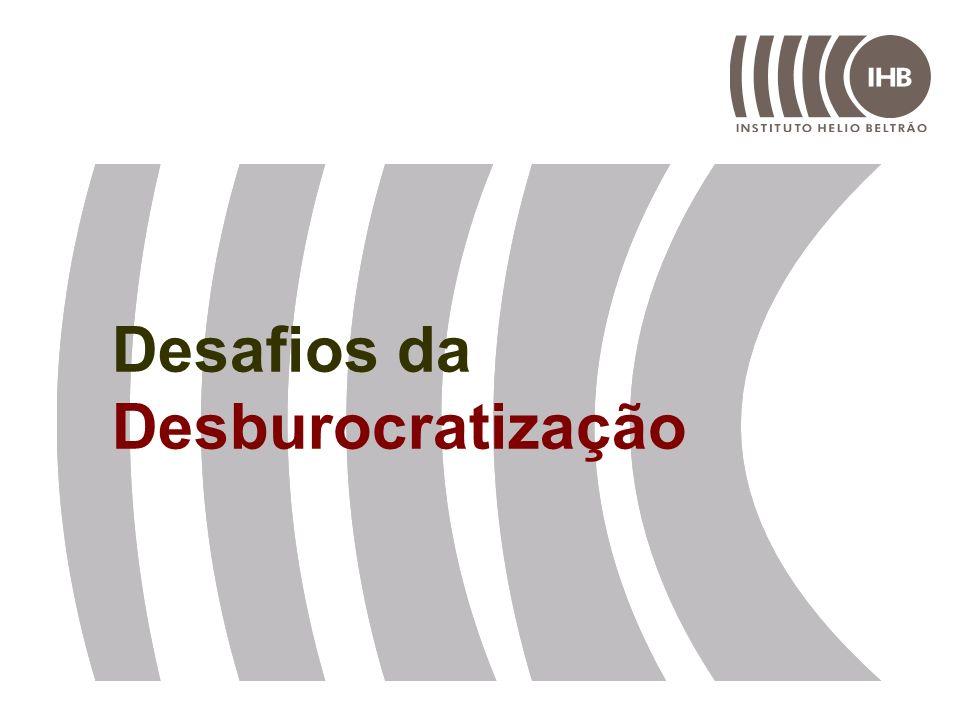 Desafios da Desburocratização