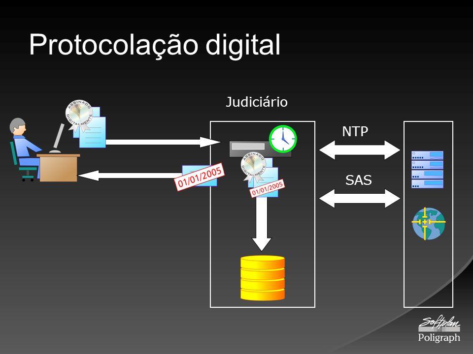 Protocolação digital Judiciário NTP SAS