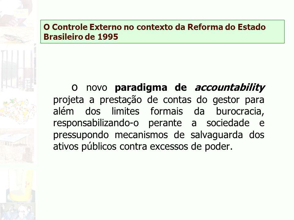 O Controle Externo no contexto da Reforma do Estado Brasileiro de 1995 o novo paradigma de accountability projeta a prestação de contas do gestor para