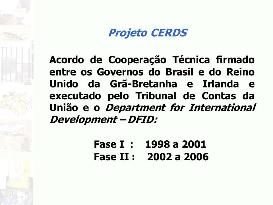 Projeto CERDS Acordo de Cooperação Técnica firmado entre os Governos do Brasil e do Reino Unido da Grã-Bretanha e Irlanda e executado pelo Tribunal de