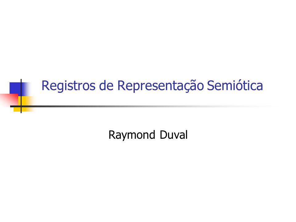 Registros de Representação Semiótica Raymond Duval