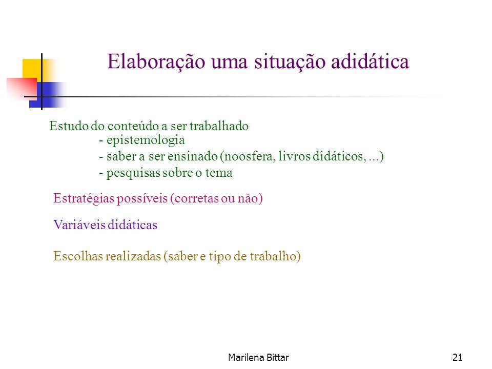 Marilena Bittar21 - epistemologia - saber a ser ensinado (noosfera, livros didáticos,...) - pesquisas sobre o tema Estudo do conteúdo a ser trabalhado