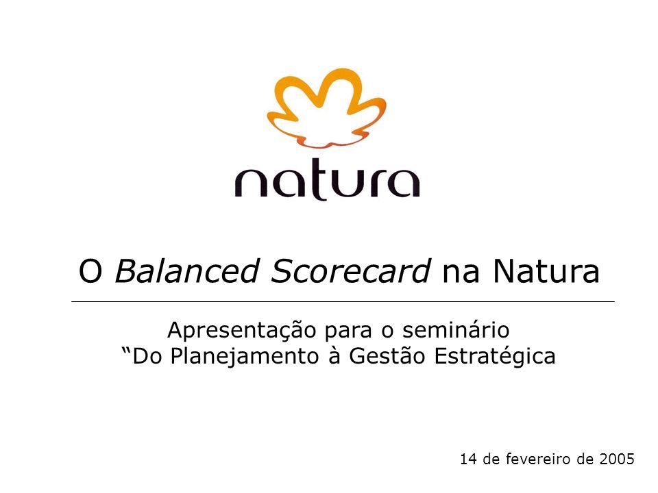 14 de fevereiro de 2005 O Balanced Scorecard na Natura Apresentação para o seminário Do Planejamento à Gestão Estratégica