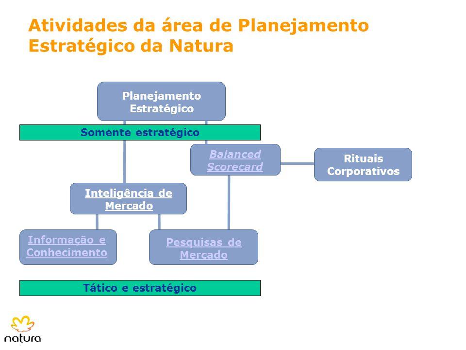 Planejamento Estratégico Rituais Corporativos Balanced Scorecard Inteligência de Mercado Pesquisas de Mercado Informação e Conhecimento Atividades da