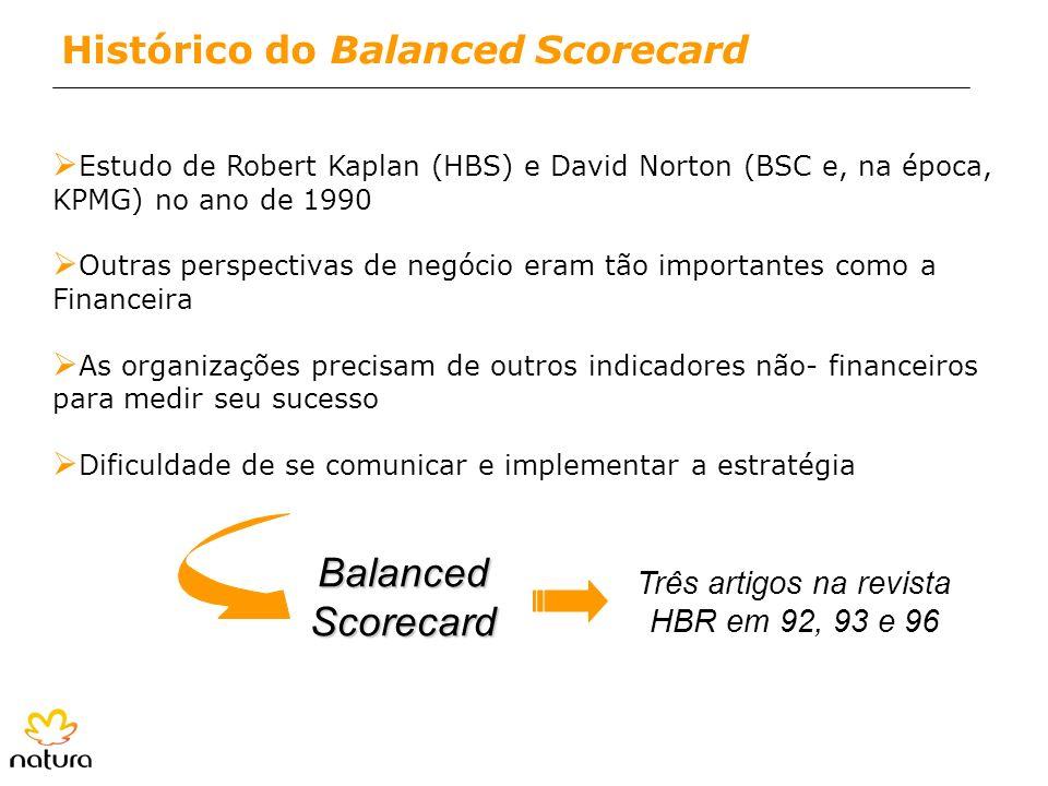 Ø Estudo de Robert Kaplan (HBS) e David Norton (BSC e, na época, KPMG) no ano de 1990 Ø Outras perspectivas de negócio eram tão importantes como a Fin