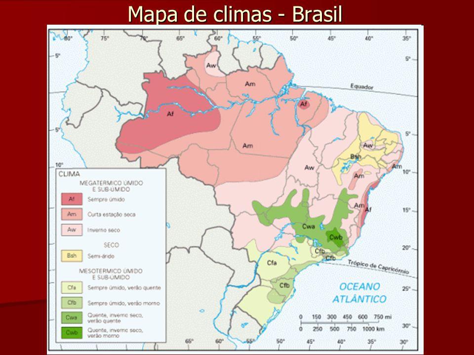 Mapa de climas - Brasil