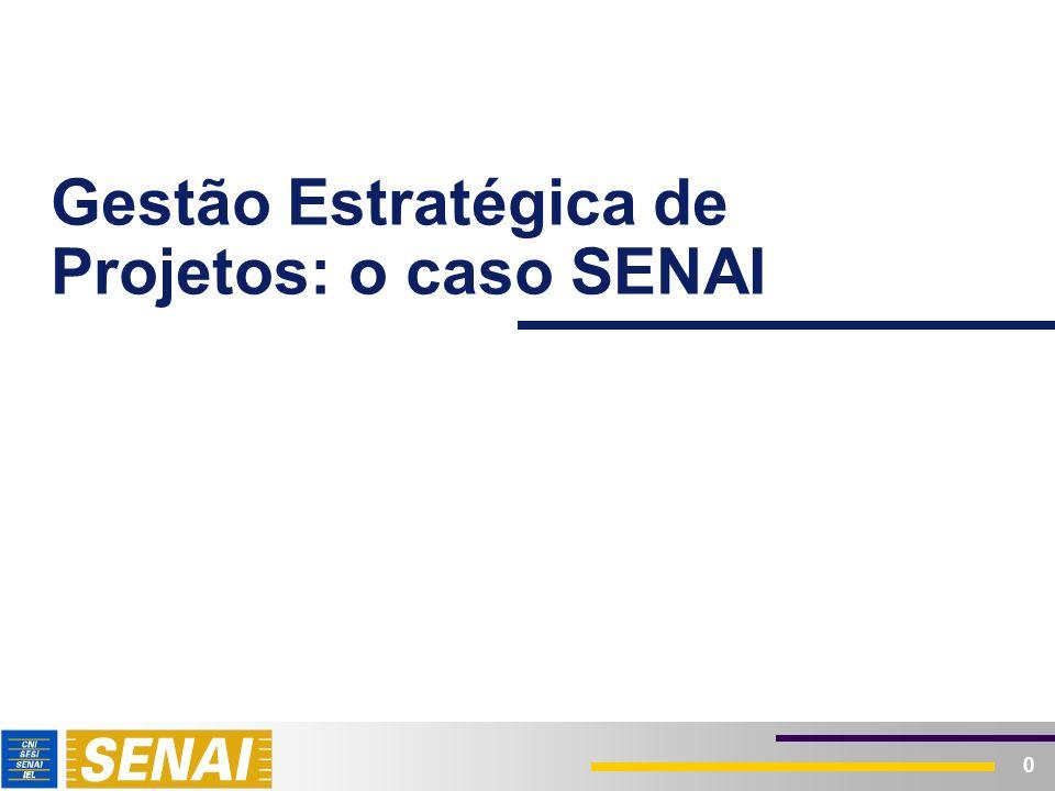 0 Gestão Estratégica de Projetos: o caso SENAI