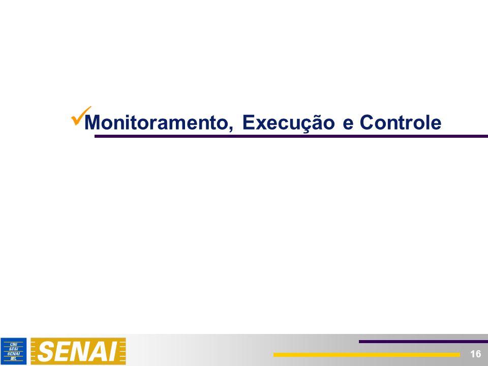 16 Monitoramento, Execução e Controle
