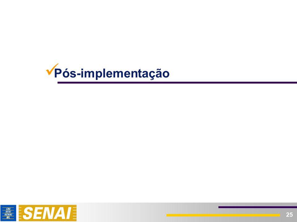25 Pós-implementação