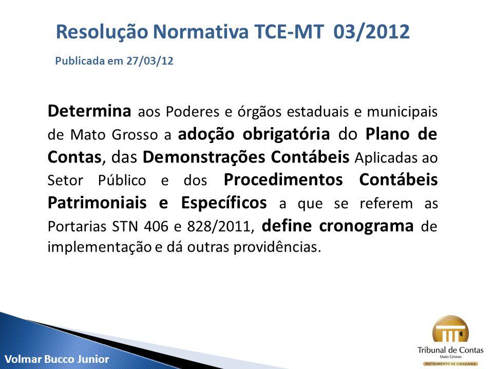 Determina aos Poderes e órgãos estaduais e municipais de Mato Grosso a adoção obrigatória do Plano de Contas, das Demonstrações Contábeis Aplicadas ao