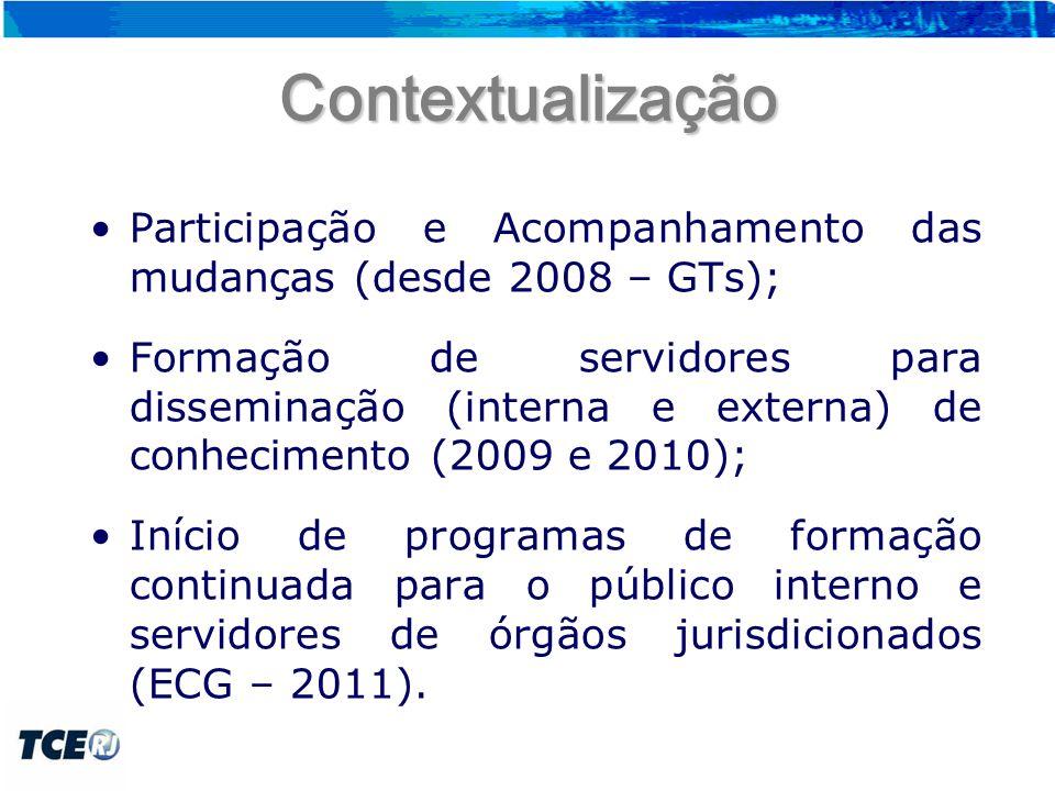 Perfil de participação no programa de formação continuada Participação total de 417 servidores 2011 – 286 servidores; 1º semestre de 2012 – 131 servidores.