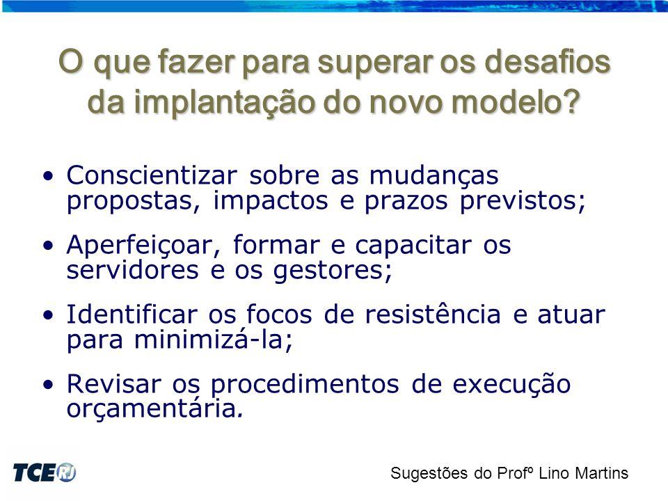 O que fazer para superar os desafios da implantação do novo modelo.