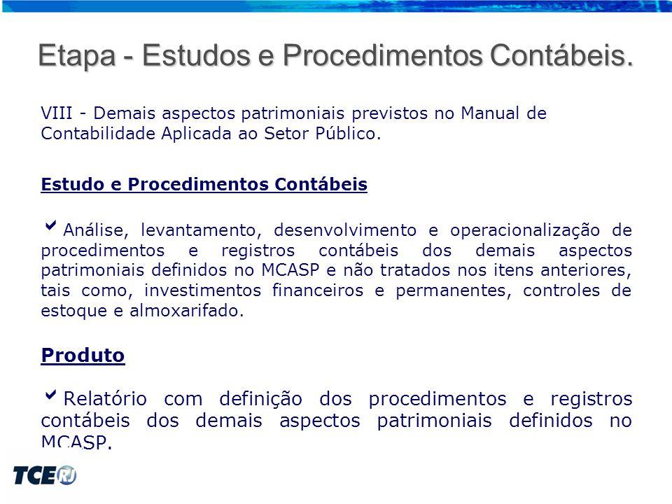 Detalhamento das Etapas 2 – Adequação.