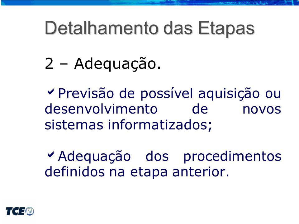 Detalhamento das Etapas 3 – Avaliação.