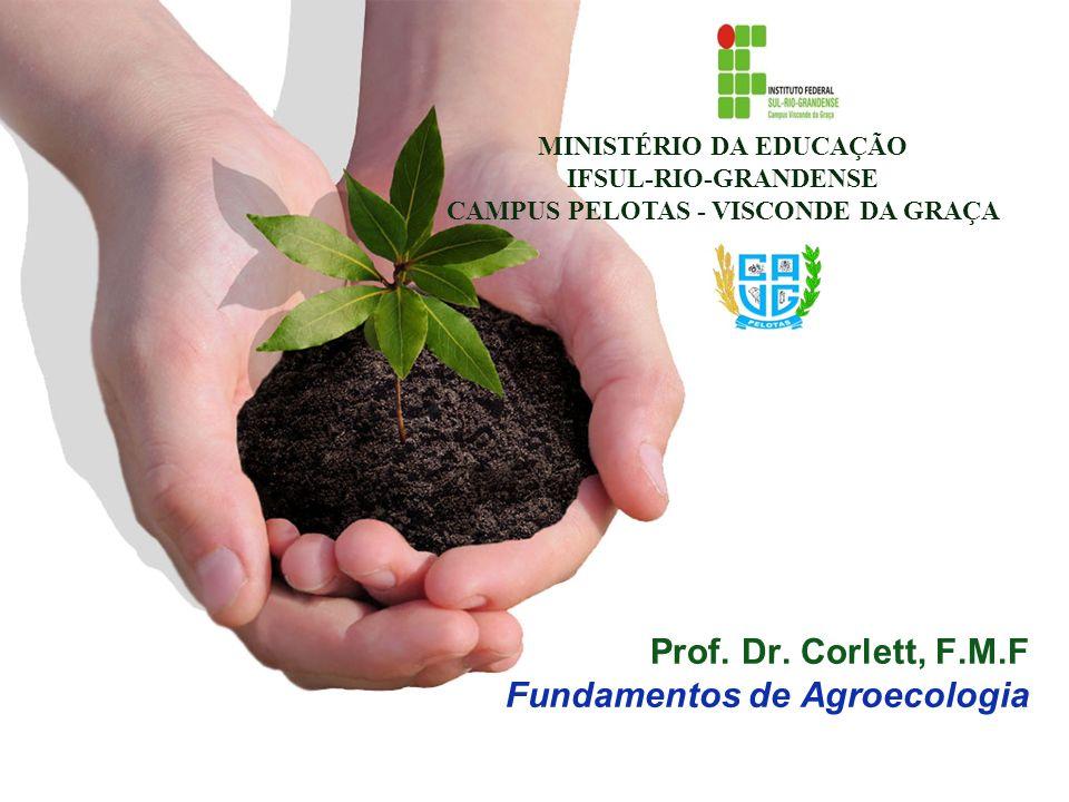 Prof. Dr. Corlett, F.M.F Fundamentos de Agroecologia MINISTÉRIO DA EDUCAÇÃO IFSUL-RIO-GRANDENSE CAMPUS PELOTAS - VISCONDE DA GRAÇA
