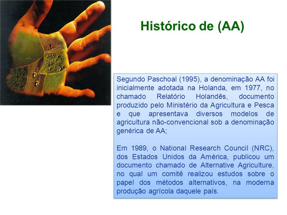 Histórico de (AA) Segundo Paschoal (1995), a denominação AA foi inicialmente adotada na Holanda, em 1977, no chamado Relatório Holandês, documento pro