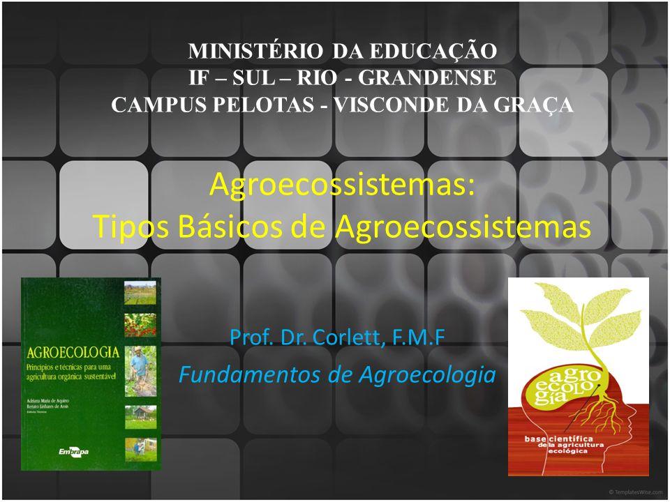 Agroecossistemas: Tipos Básicos de Agroecossistemas Prof.
