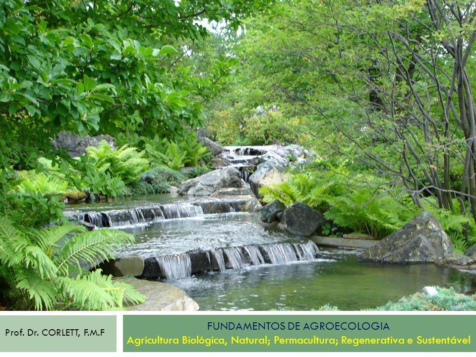 FUNDAMENTOS DE AGROECOLOGIA Agricultura Biológica, Natural; Permacultura; Regenerativa e Sustentável Prof. Dr. CORLETT, F.M.F