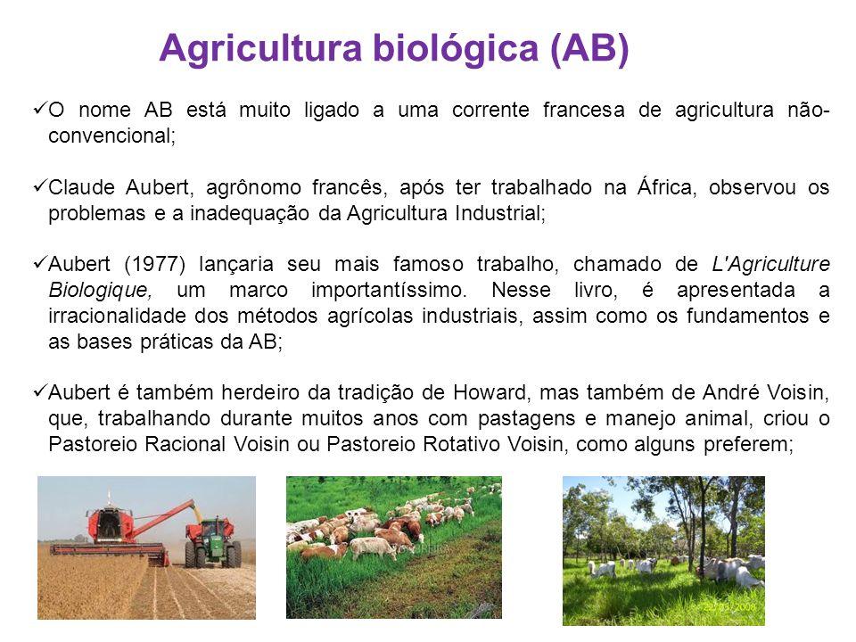 O nome AB está muito ligado a uma corrente francesa de agricultura não- convencional; Claude Aubert, agrônomo francês, após ter trabalhado na África,