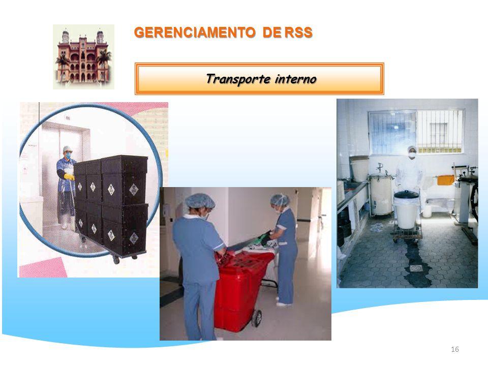 16 GERENCIAMENTO DE RSS Transporte interno