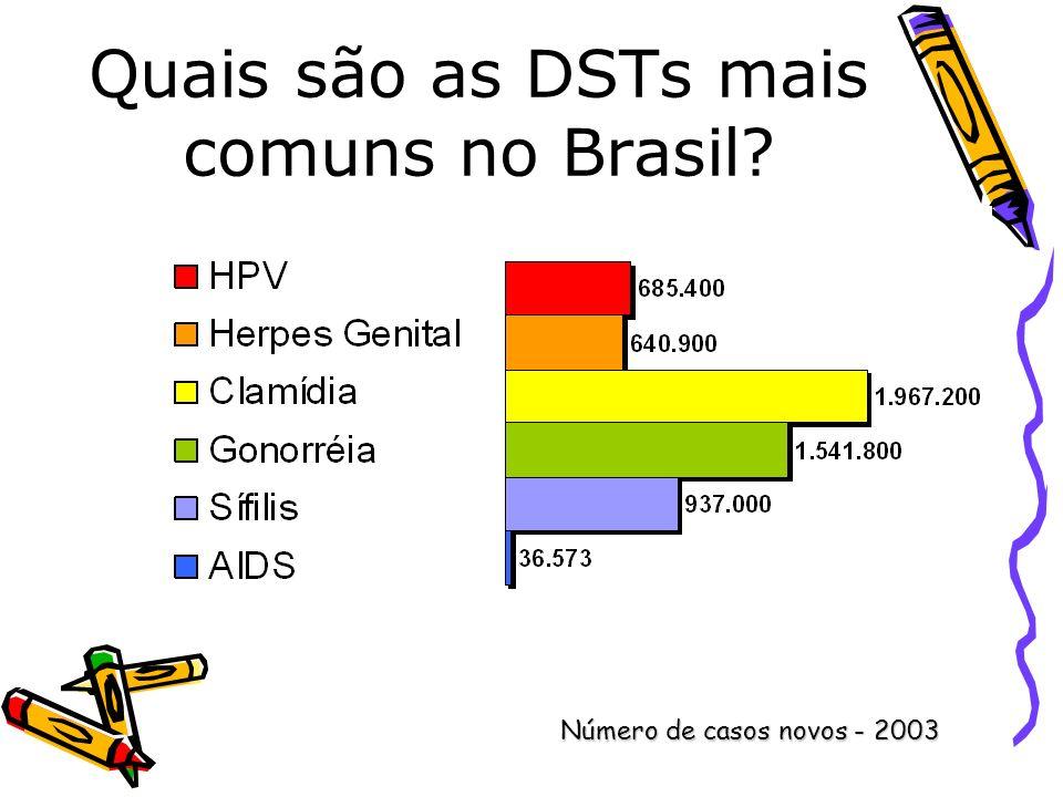 Quais são as DSTs mais comuns no Brasil? Número de casos novos - 2003