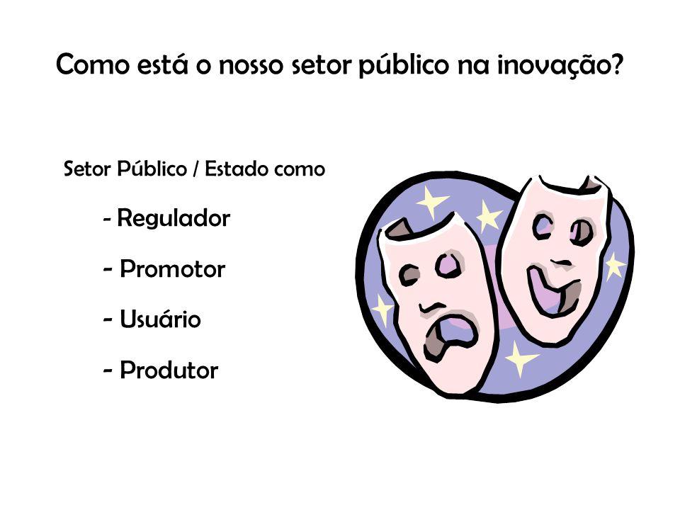 Como está o nosso setor público na inovação.