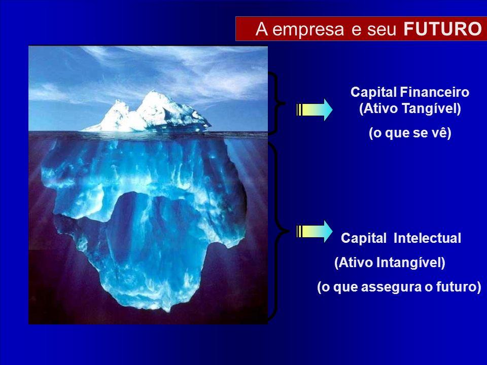 Capital Intelectual (Ativo Intangível) (o que assegura o futuro) Capital Financeiro (Ativo Tangível) (o que se vê) A empresa e seu FUTURO