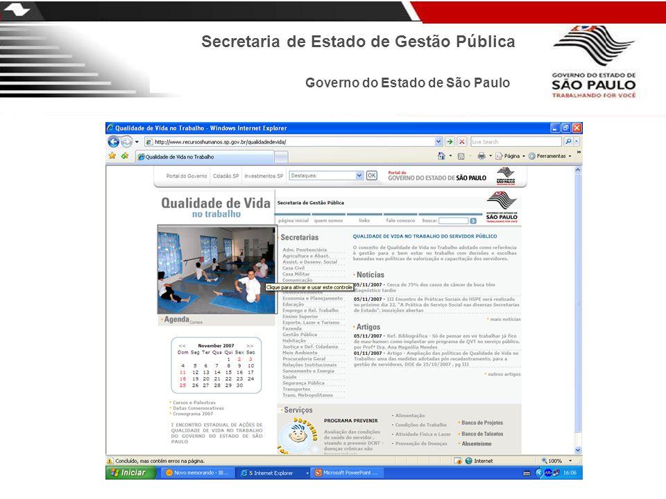 Secretaria de Estado de Gestão Pública Governo do Estado de São Paulo
