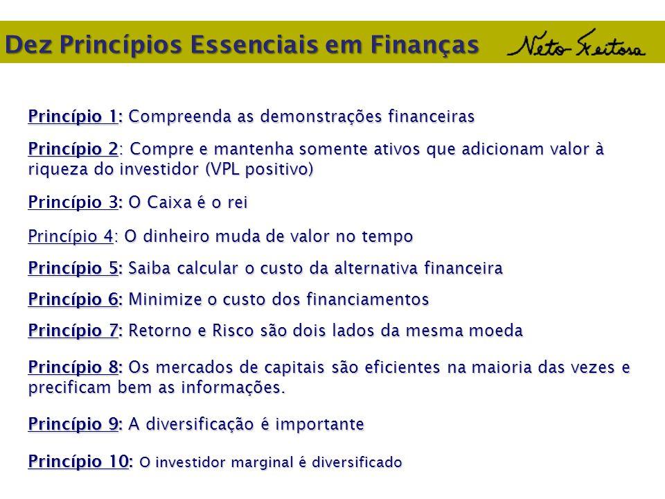 Dez Princípios Essenciais em Finanças Princípio 1: Compreenda as demonstrações financeiras Princípio 2: Compre e mantenha somente ativos que adicionam