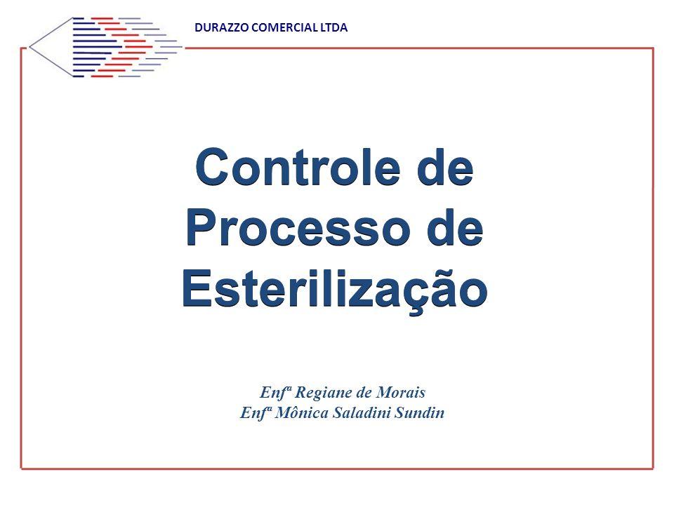Controle de Processo de Esterilização Enfª Regiane de Morais Enfª Mônica Saladini Sundin DURAZZO COMERCIAL LTDA