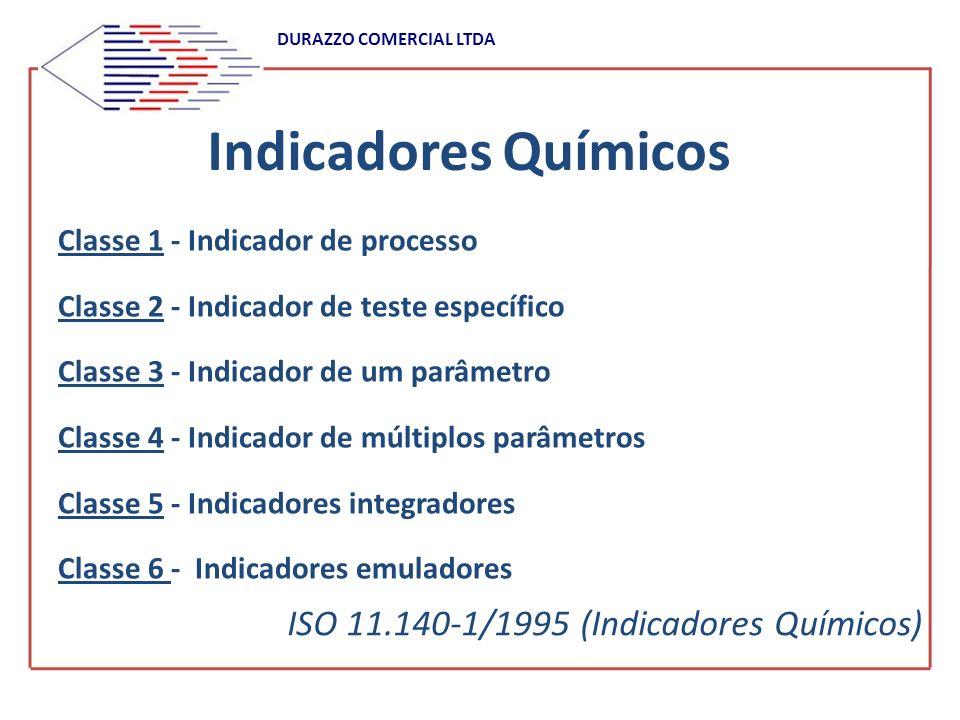 DURAZZO COMERCIAL LTDA Indicadores Químicos Classe 1 - Indicador de processo Classe 2 - Indicador de teste específico Classe 3 - Indicador de um parâm