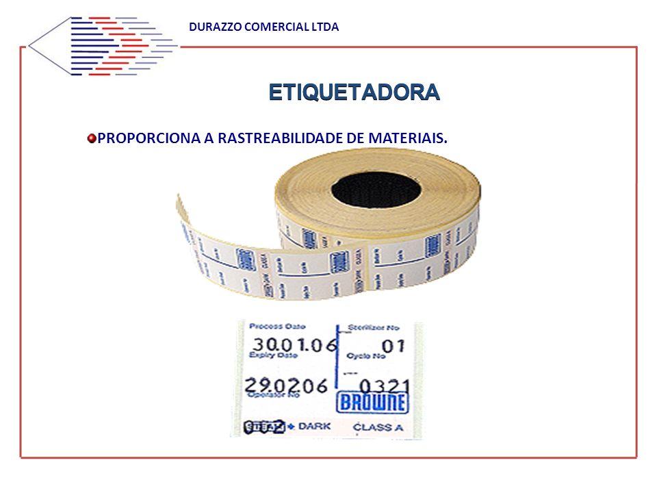ETIQUETADORA DURAZZO COMERCIAL LTDA PROPORCIONA A RASTREABILIDADE DE MATERIAIS.