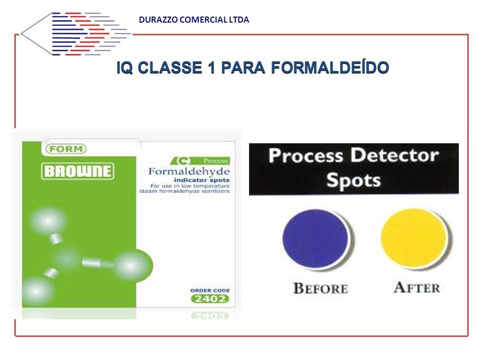 IQ CLASSE 1 PARA FORMALDEÍDO DURAZZO COMERCIAL LTDA