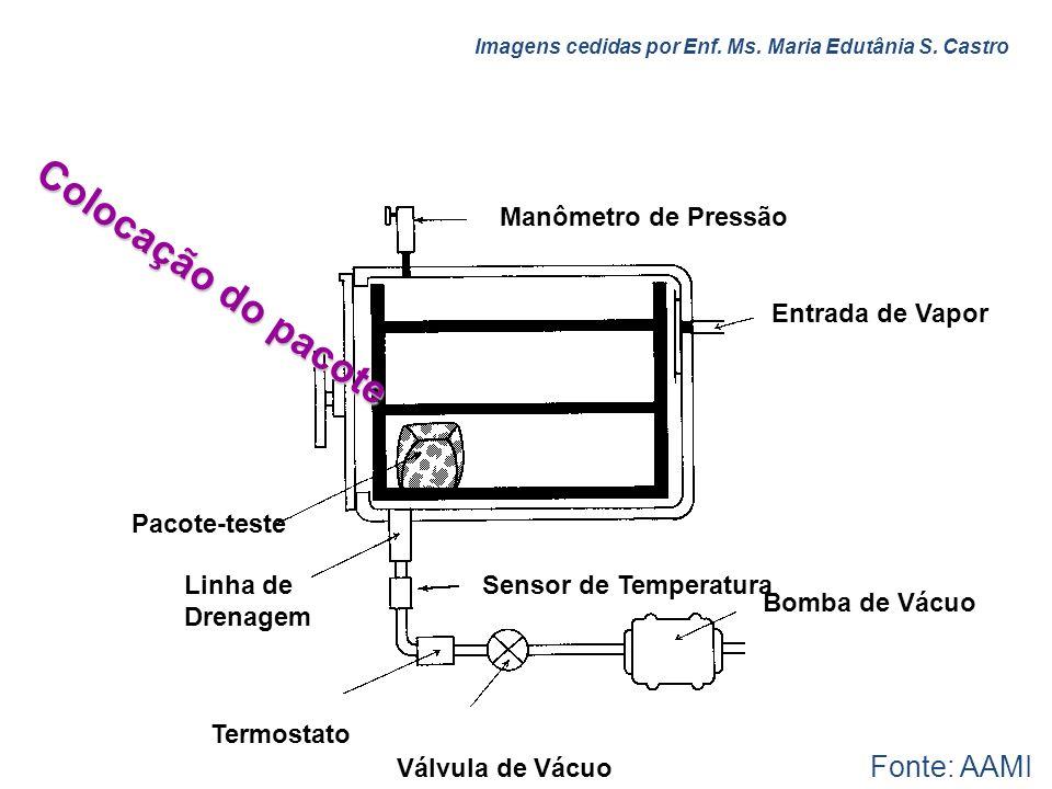 Manômetro de Pressão Entrada de Vapor Bomba de Vácuo Sensor de Temperatura Válvula de Vácuo Pacote-teste Linha de Drenagem Termostato Colocação do pac