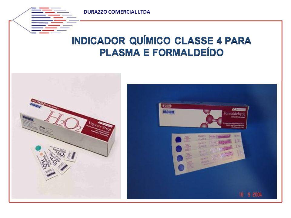 INDICADOR QUÍMICO CLASSE 4 PARA PLASMA E FORMALDEÍDO DURAZZO COMERCIAL LTDA