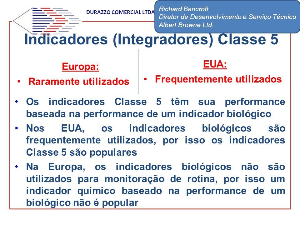 DURAZZO COMERCIAL LTDA Indicadores (Integradores) Classe 5 Os indicadores Classe 5 têm sua performance baseada na performance de um indicador biológic