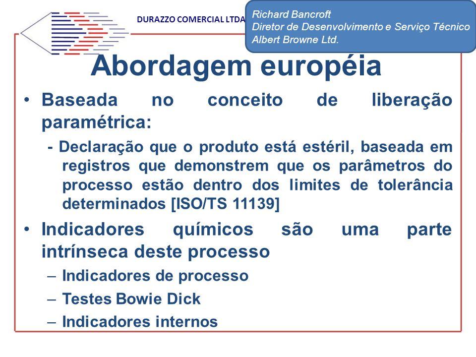 DURAZZO COMERCIAL LTDA Baseada no conceito de liberação paramétrica: - Declaração que o produto está estéril, baseada em registros que demonstrem que