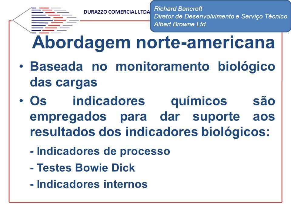 DURAZZO COMERCIAL LTDA Baseada no monitoramento biológico das cargas Os indicadores químicos são empregados para dar suporte aos resultados dos indica