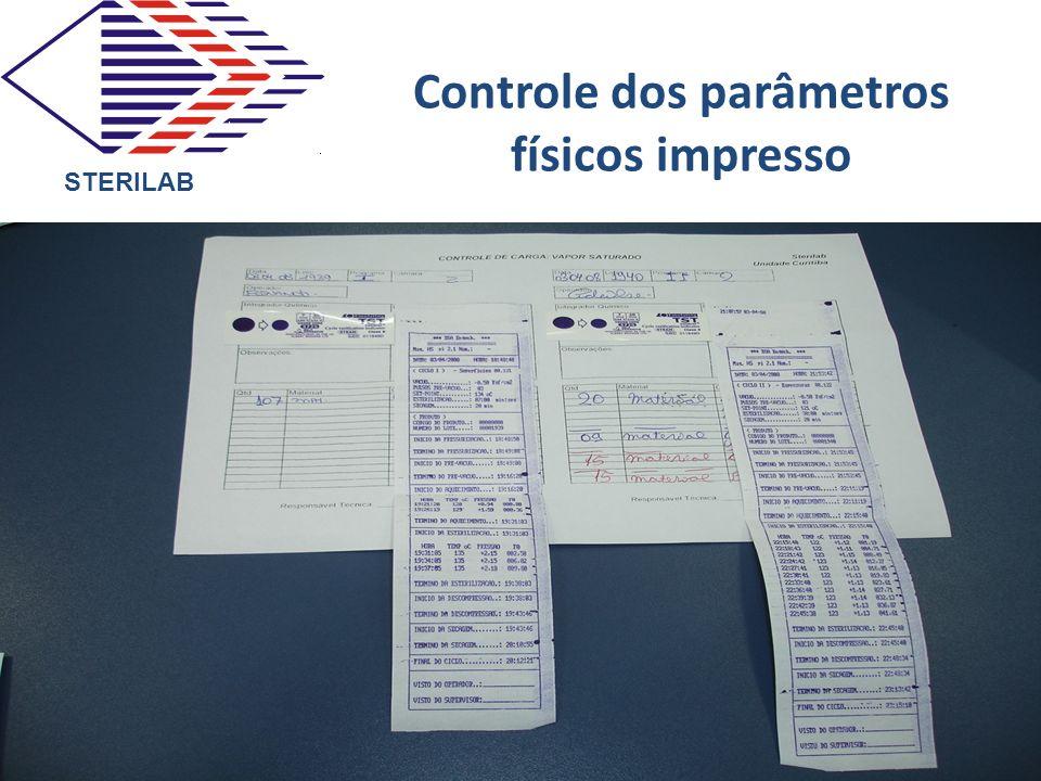 Controle dos parâmetros físicos impresso STERILAB