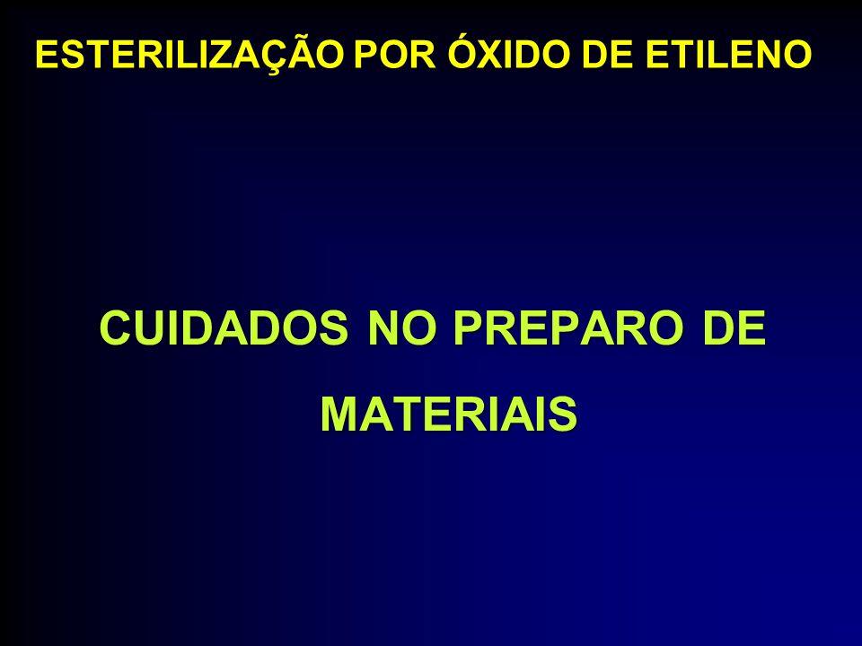 CUIDADOS NO PREPARO DE MATERIAIS ESTERILIZAÇÃO POR ÓXIDO DE ETILENO