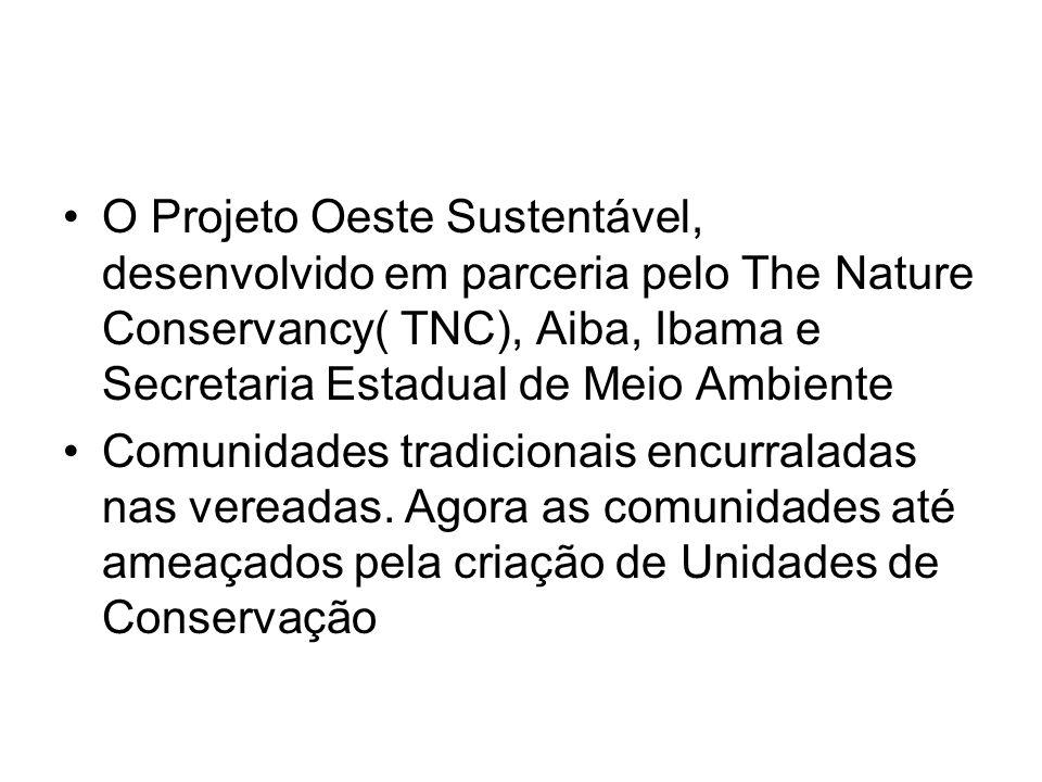O Projeto Oeste Sustentável, desenvolvido em parceria pelo The Nature Conservancy( TNC), Aiba, Ibama e Secretaria Estadual de Meio Ambiente Comunidade