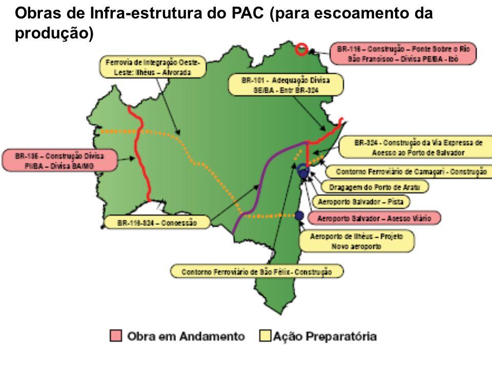 Obras de Infra-estrutura do PAC (para escoamento da produção)