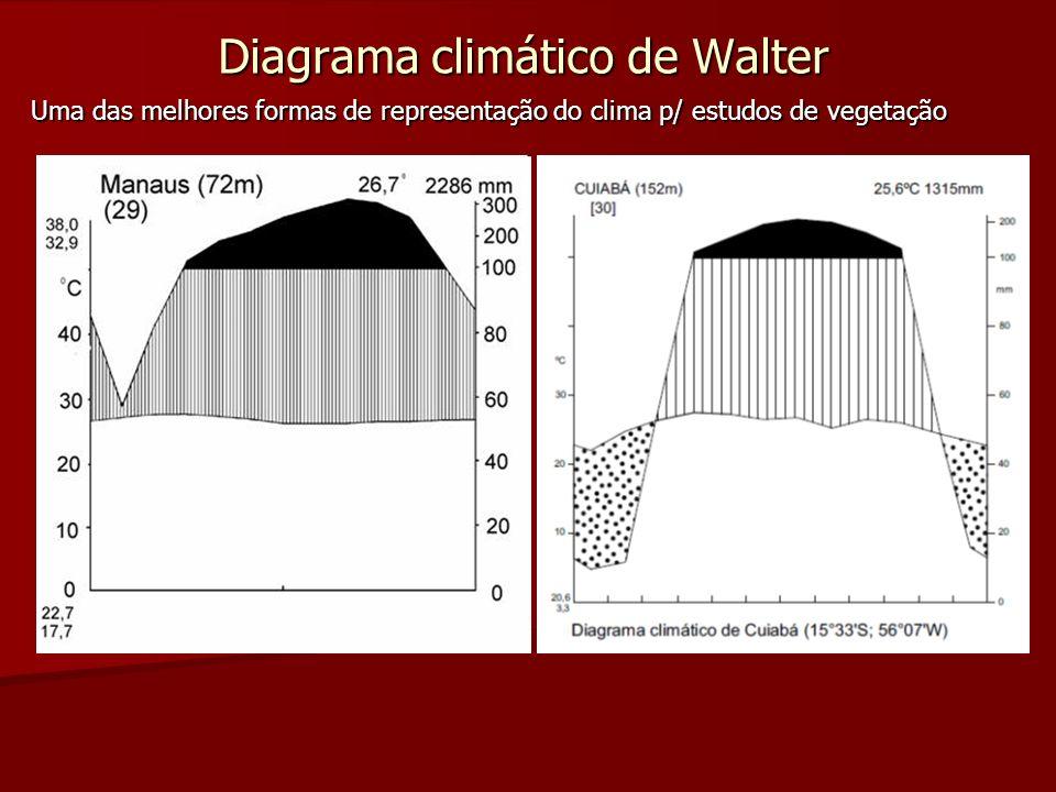 Diagrama climático de Walter Uma das melhores formas de representação do clima p/ estudos de vegetação